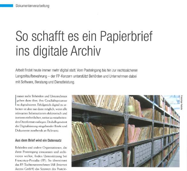 So schafft es ein Papierbrief ins digitale Archiv