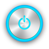 Power Button blue