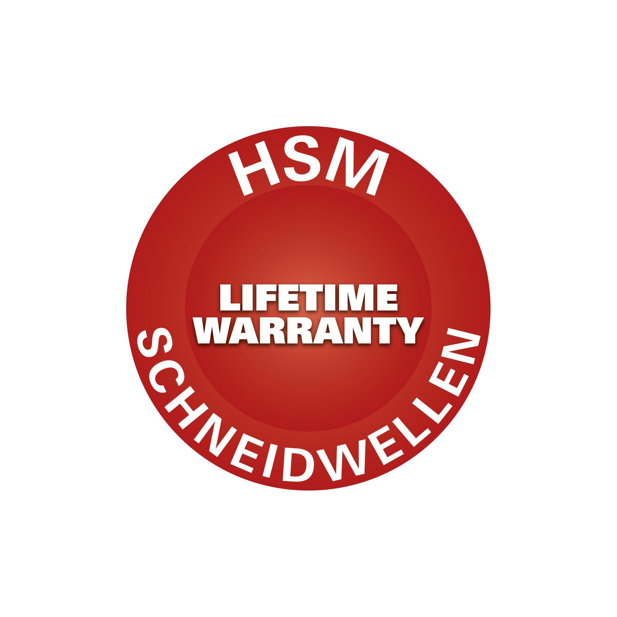 De hsm button lifetime warranty