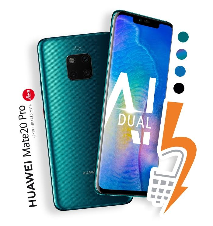 Huawei Mate20 Pro mit Strom