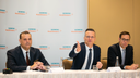 David Pacitti, President Americas, Christoph Zindel, Member of the Managing Board, Stefan Schmidt, Head of Media Relations (From left to right)