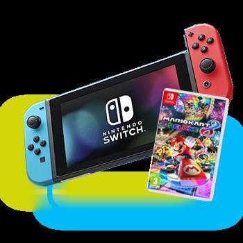 Nintendo Switch mit dem Spiel Mario Kart 8 Deluxe