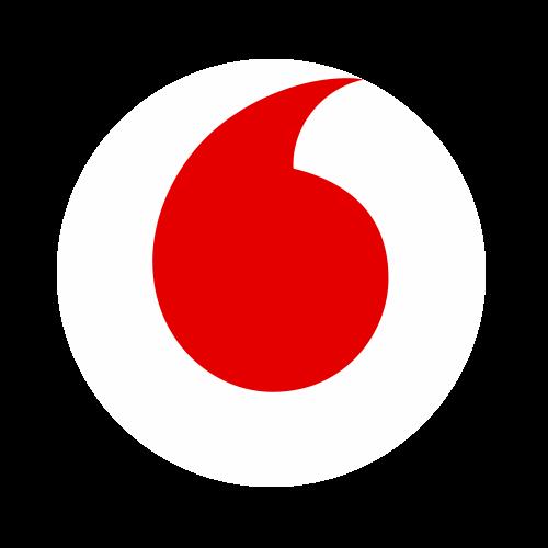 Vodafone Logo weiß