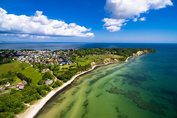 Luftaufnahme von Göhren auf der Insel Rügen