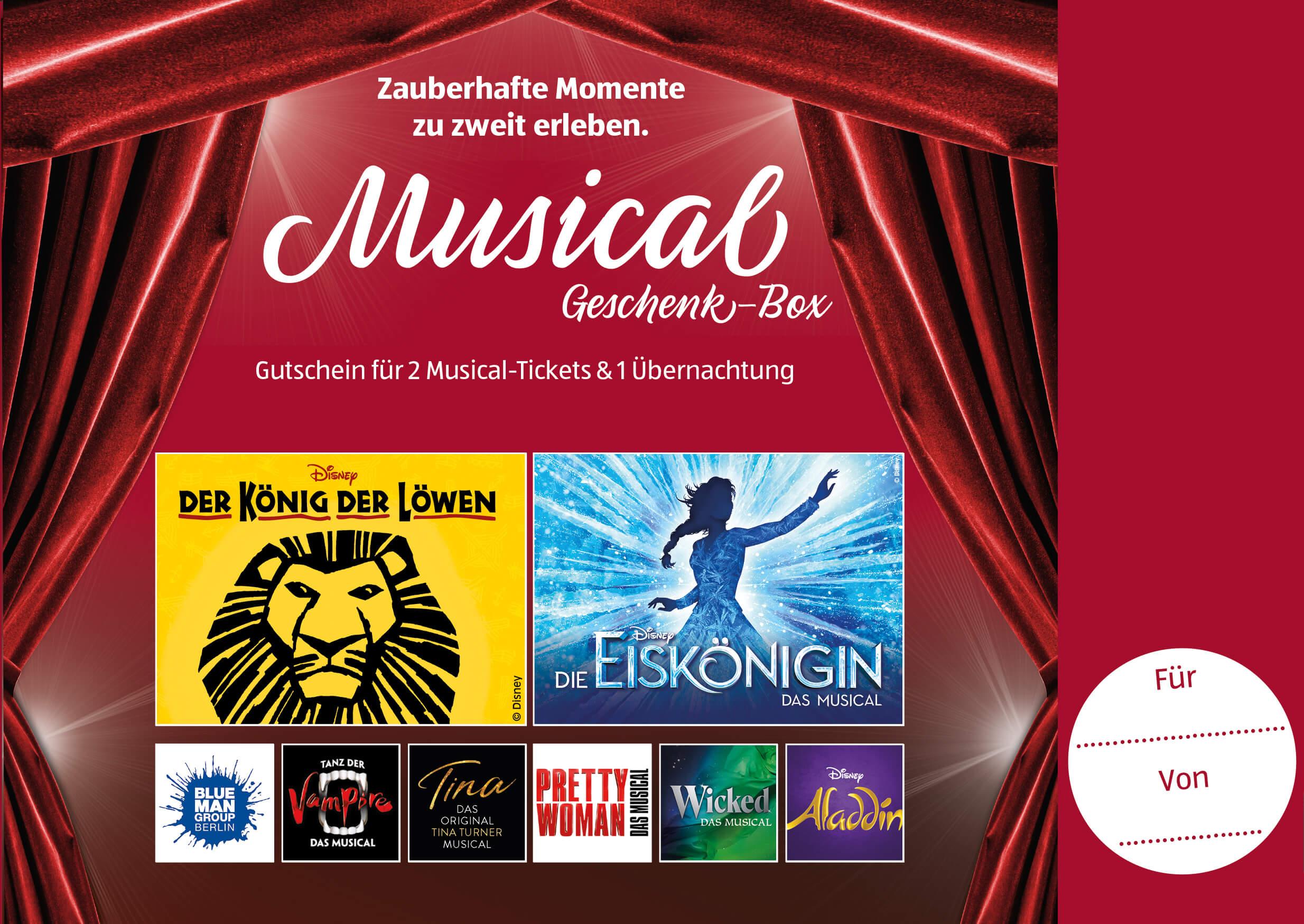 Stage, ALDI, Musical Gutschein-Box, SUED