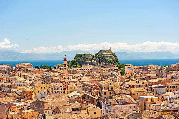 Blick über Korfu-Stadt, Griechenland