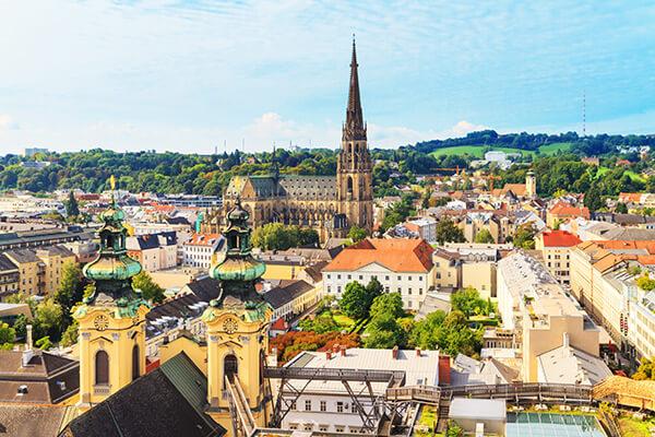 Stadtansicht von Linz in Oberösterreich