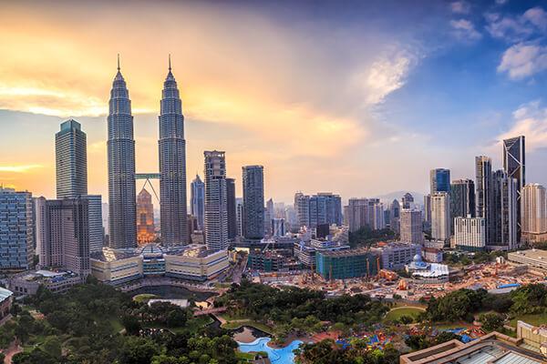 Stadtansicht von Kuala Lumpur, Malaysia
