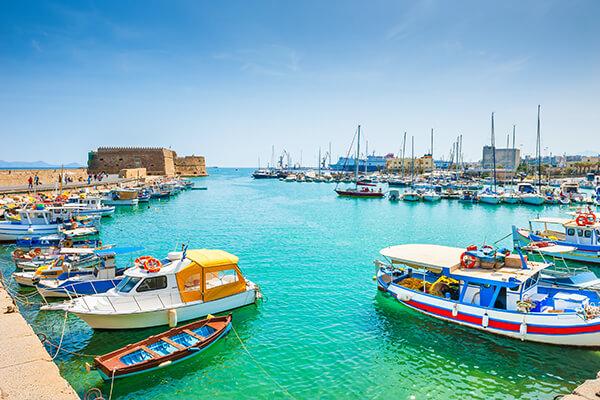 Hafen von Heraklion auf Kreta, Griechenland