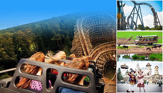ALDI, Collage Freizeitparks, Spaß, Familien