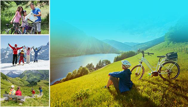 Aktivreisen, Radreisen, Wanderreisen, Skireisen