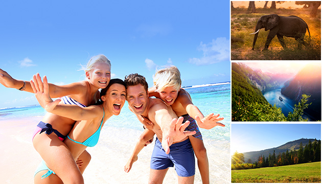 Familie, Strand, Elefant, Fjord, Wald