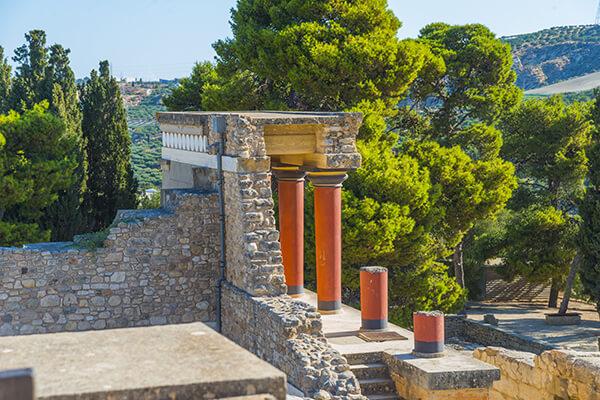 Ausgrabungsstätte Knossos auf Kreta, Griechenland