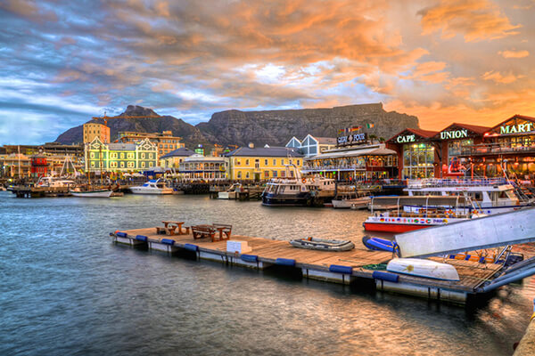 Die Victoria & Alfred Waterfront in Kapstadt, Südafrika