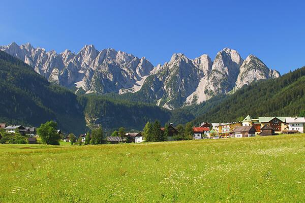 Blick auf Gosau im Salzkammergut, Oberösterreich