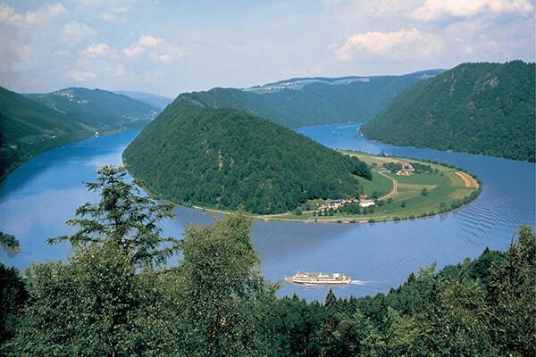 Die Donau - Blick auf die Schlögener Schlinge in Oberösterreich
