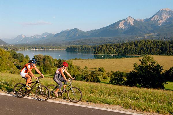 Radfahrer in Kärnten in Österreich