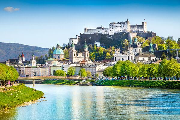 Österreich, Stadtansicht von Salzburg