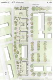 Lageplan der Neubauten