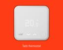tado starter kit thermostat showing 20 degrees inside temperature