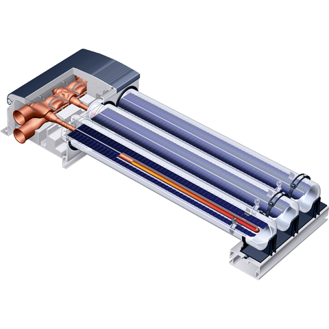 Product cross-section Vitosol 300-TM tube collector