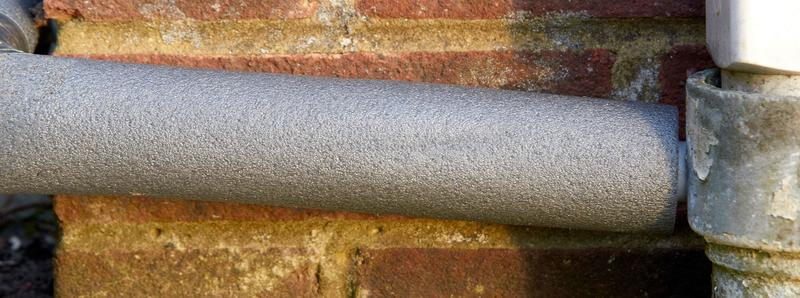 Frozen boiler condensate pipe