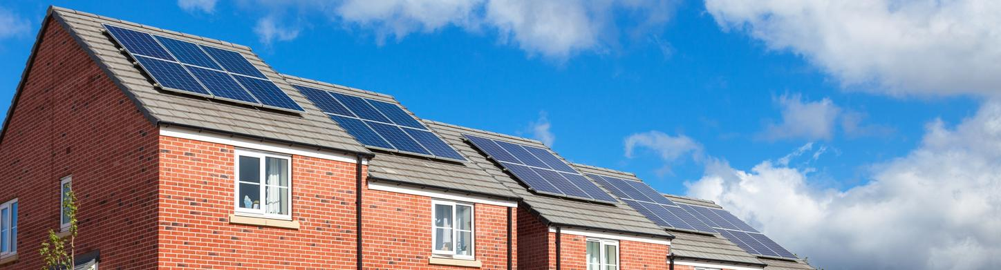 Solar panels on UK homes