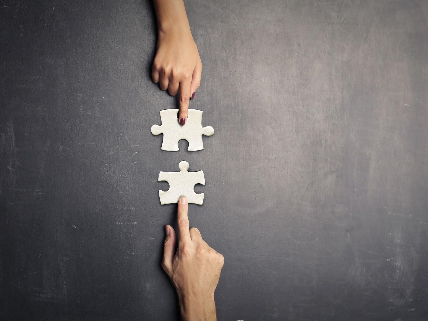 Putting 2 pieces of a puzzle together to solve a problem