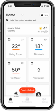 ViCare App家庭加热控制