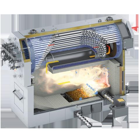 Product section - Vitoflex 300-UF log boiler