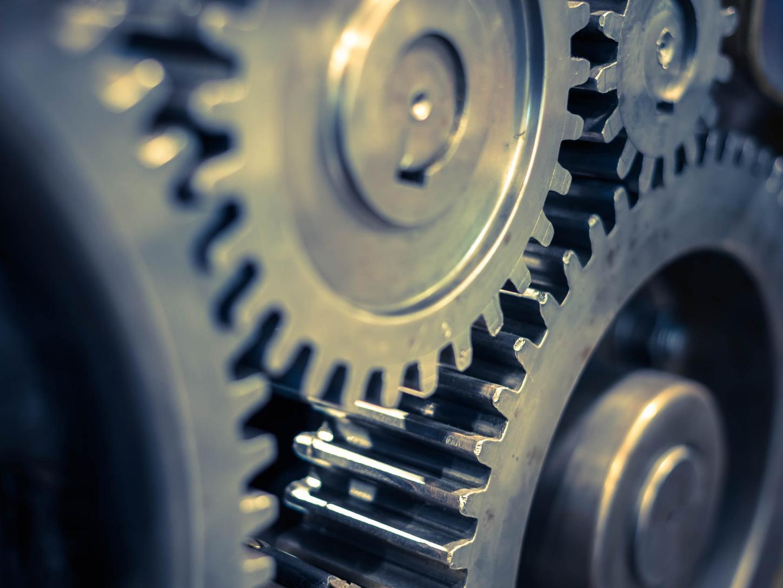 metal gears in an engineering system