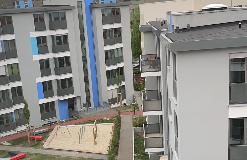 Blick in den Innenhof eines Immobilienprojekts der Apothekerversorgung Niedersachsen
