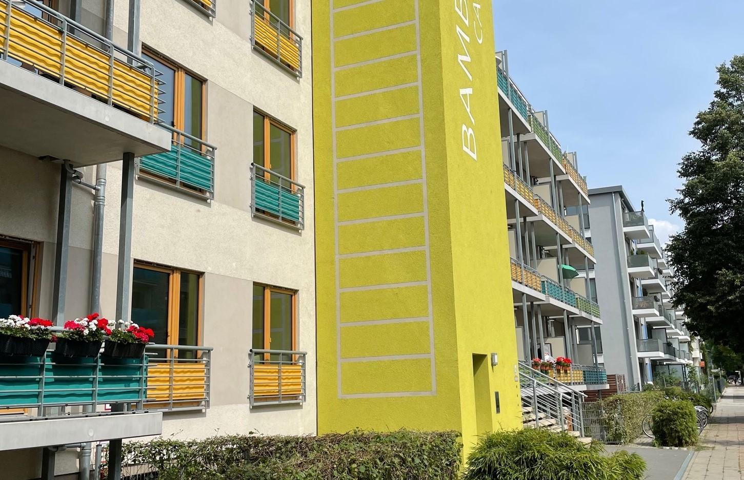 Front des Immobilienprojekts Bambus Campus der Apothekerversorgung Niedersachsen