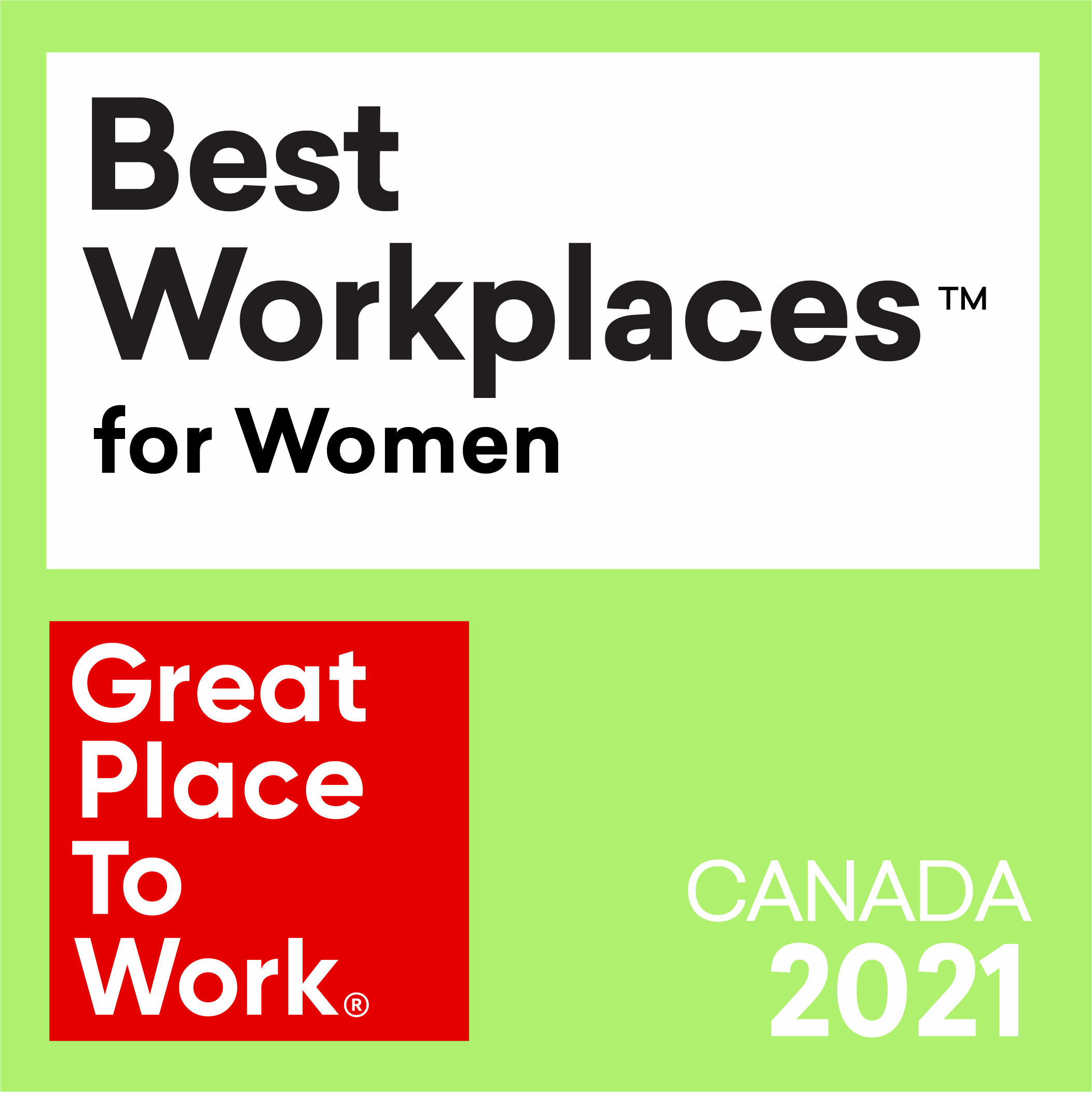 Best workplaces for women 2021 logo