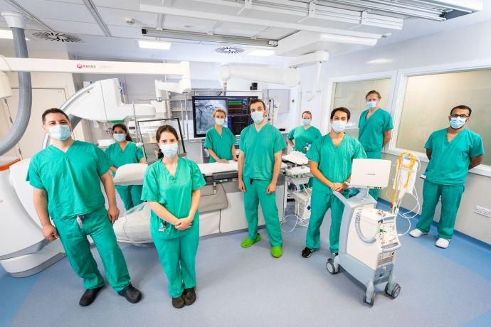 The cardiology team at the Royal Free London with the ARTIS icono angiography system from Siemens Healthineers