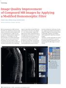 Image Quality Improvement of Composed MR Images by Applying a Modified Homomorphic Filter