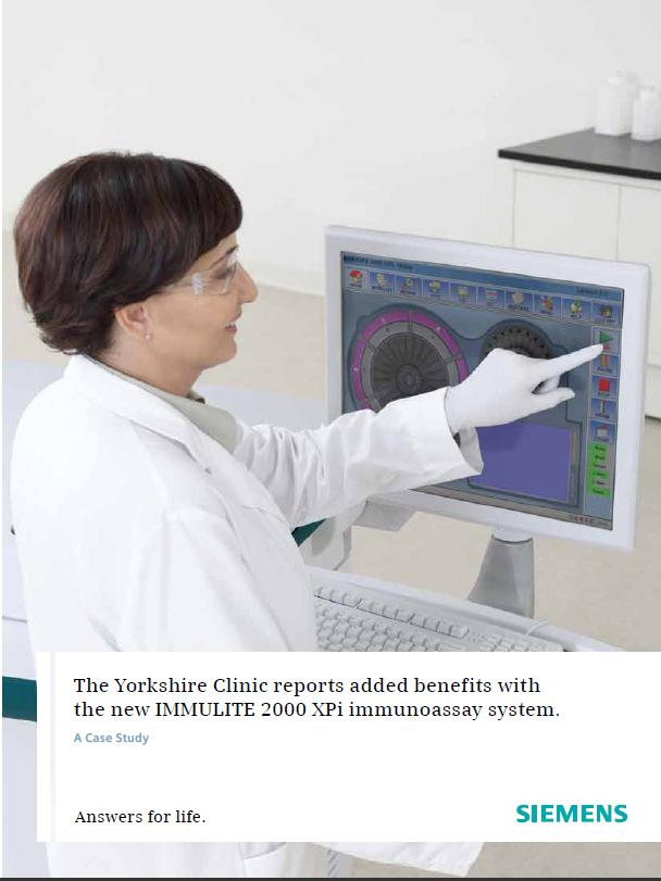 The Yorkshire Clinic reports added benefits with the new IMMULITE 2000 XPi immunoassay system