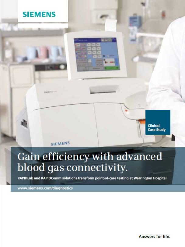 Warrington Hospital gains efficiency with advanced blood gas connectivity.