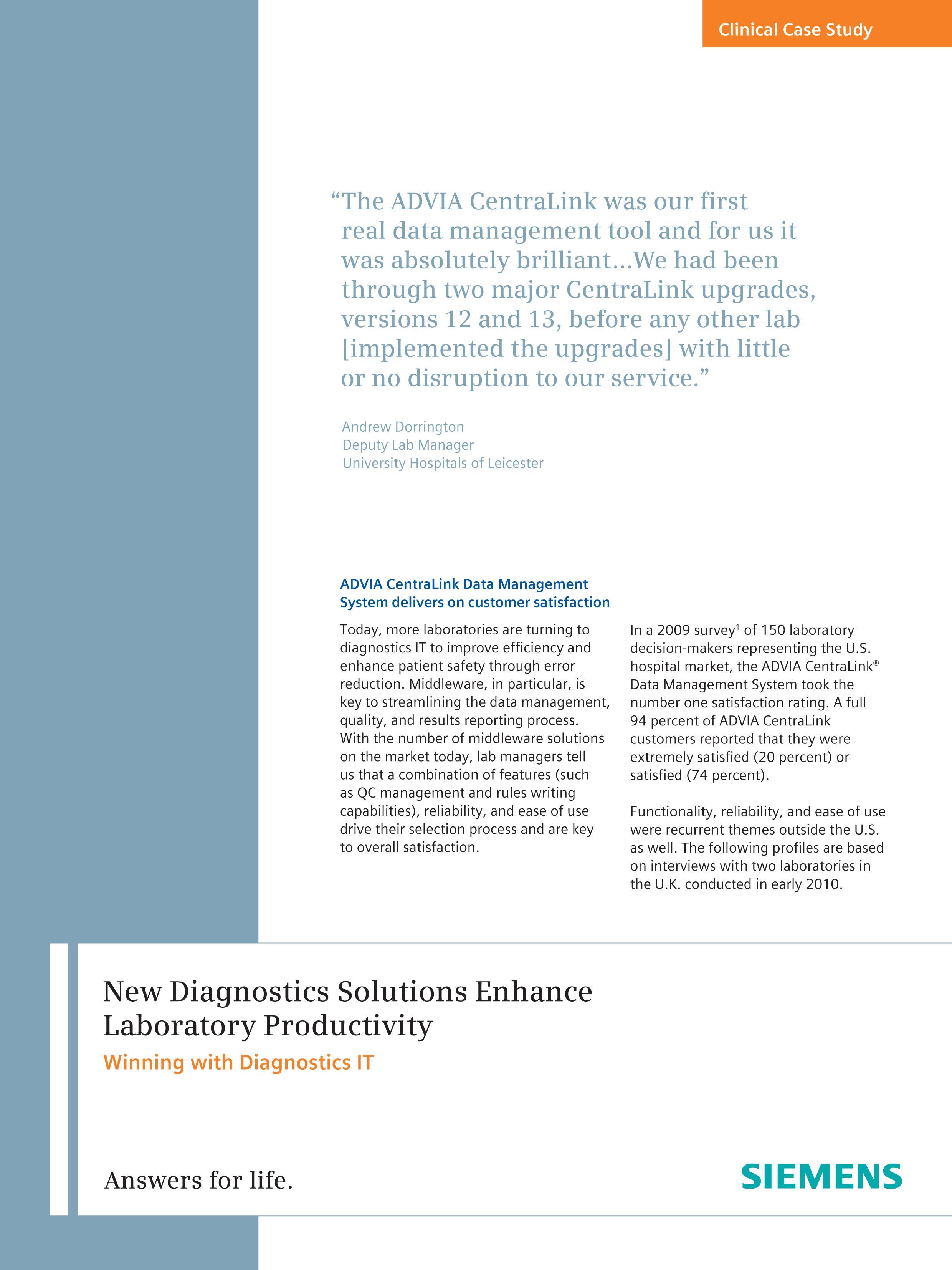 CentraLink 13 Customer Profiles