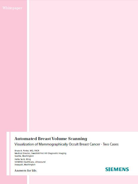 ACUSON S2000 Automated Breast Volume Scanner