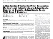 A randomized controlled trial comparing motivational interviewing Image