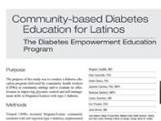 Community-based diabetes education for Latinos Image