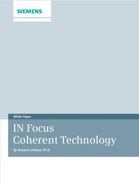 ACUSON SC2000 IN Focus Coherent Technology
