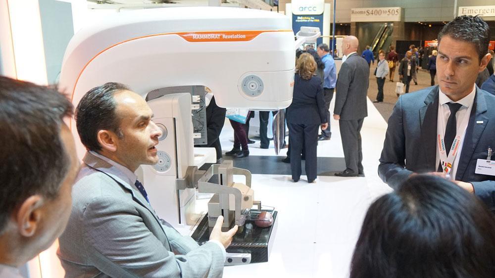 The new digital mammography system mammomat revelation improves the mammogram biopsy workflow.