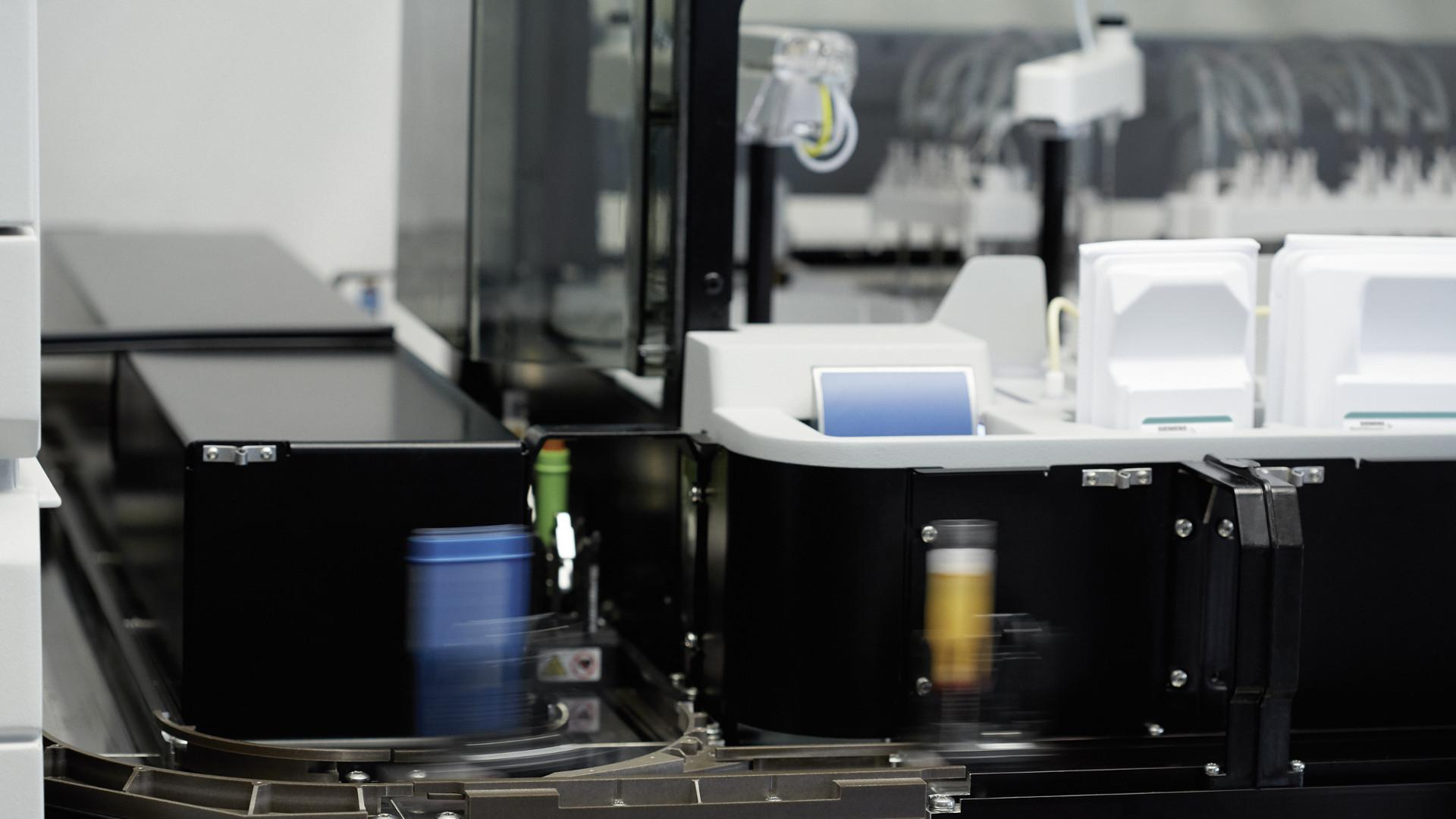 Footage of laboratory diagnostics