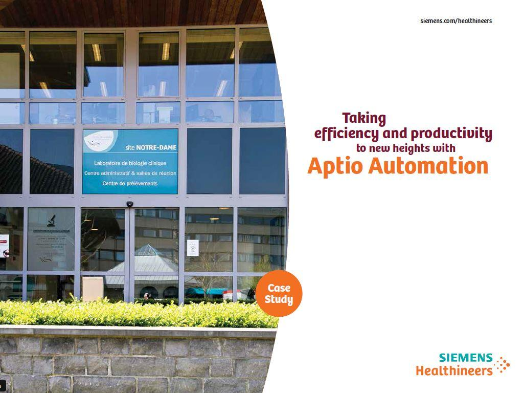 Taking efficiency and productivity to new heights with Aptio Automation