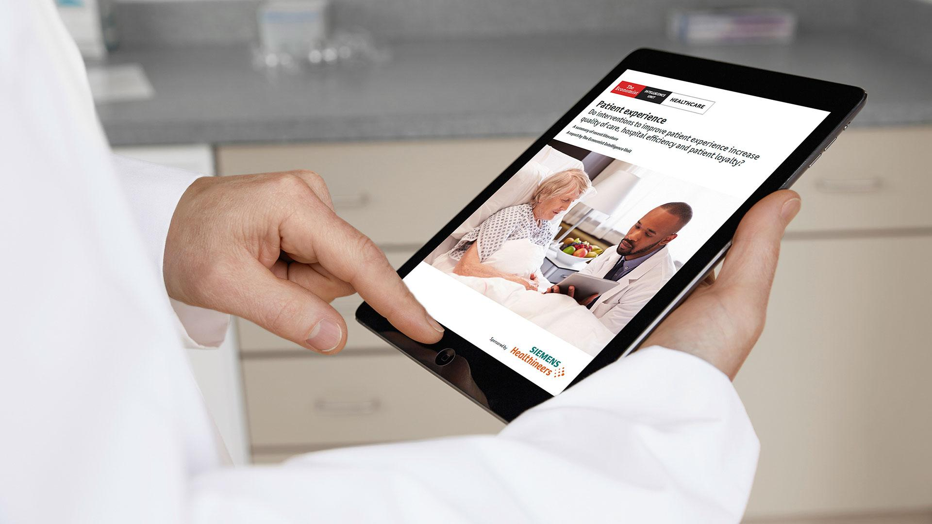 The Economist Intelligence Unit looked into recent literature regarding the effect of measures to improve patient experience in hospitals on patient satisfaction and quality of care.