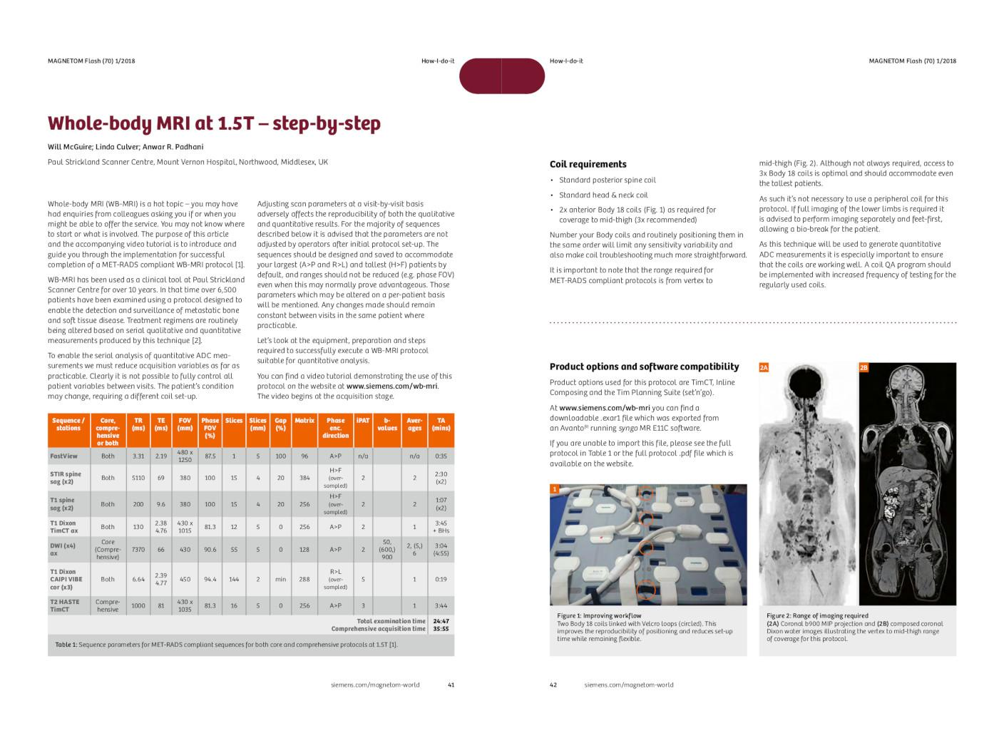 How-I-do-it: Whole-body MRI at 1.5T – step-by-step