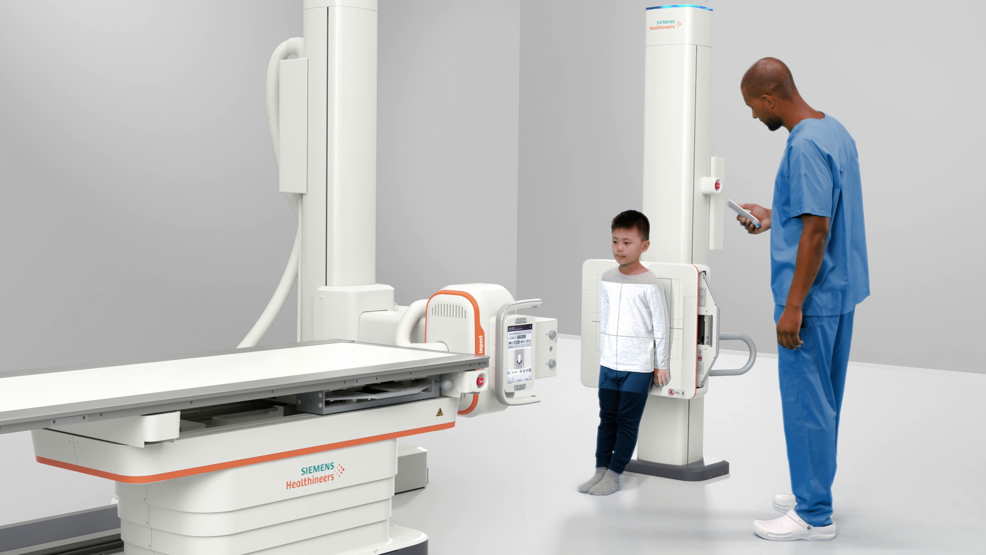 MULTIX Impact is a high-end, floor-mounted radiography system that comes at an economical price and improves access to care.