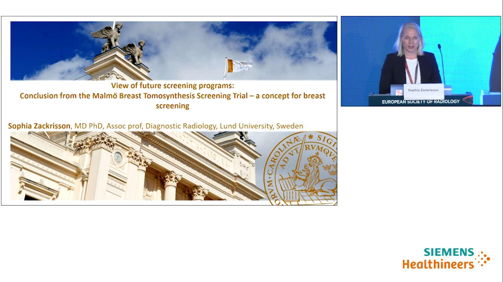 View of future screening programs: Conclusion from the Malmö Breast Tomosynthesis Screening Trial – a concept for breast screening